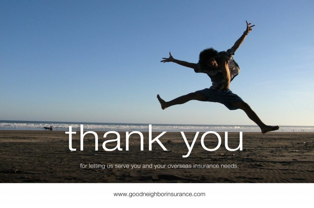 international medical insurance, overseas medical insurance, thank you, career insurance, expat insurance