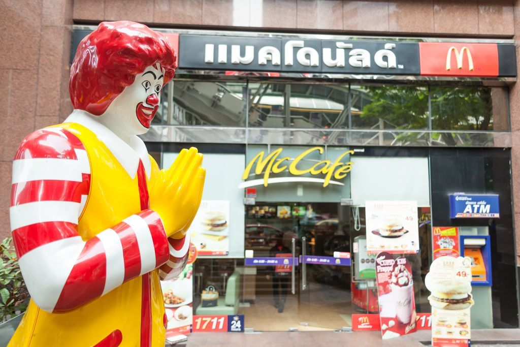 BANGKOK - MARCH 15: of McDonald's storefront in the centre of th