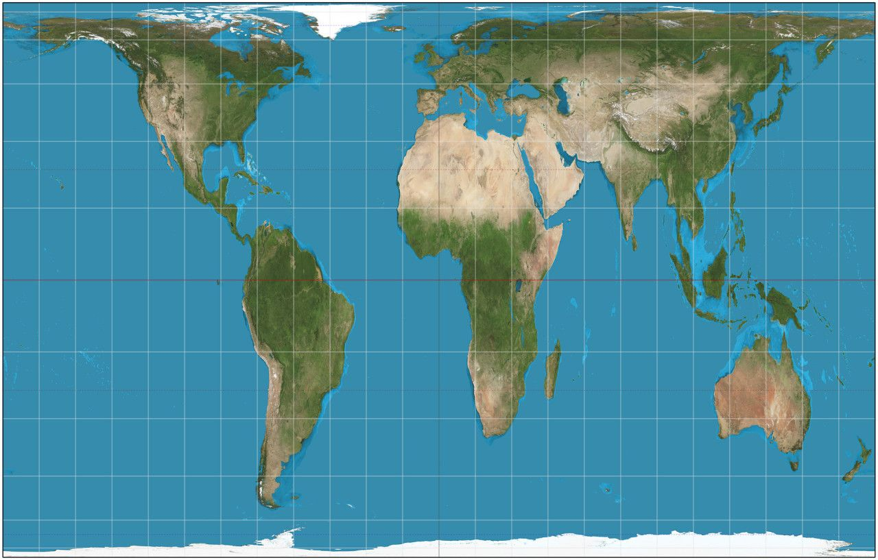 Peters projections map