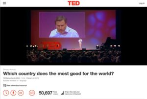 View the TED TALK ON GOOD COUNTRIES