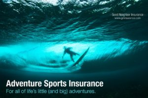 Adventure sports insurance from Good Neighbor Insurance