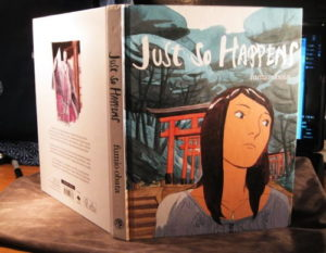 The jacket of Juat So Happens a graphic novel about reverse cuture shock