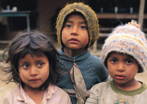 Nepalese kids earthquake relief effort 2015