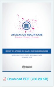 World Health Organization report on global attacks on healthcare workers