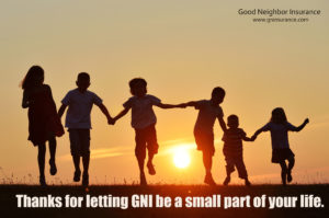 Thank you for letting GNI be a part of your life!