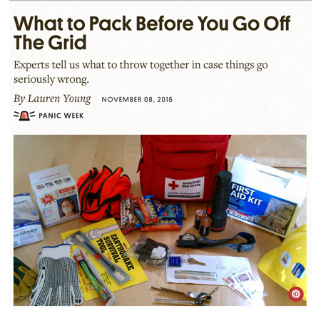 What to pack in a bug out bag