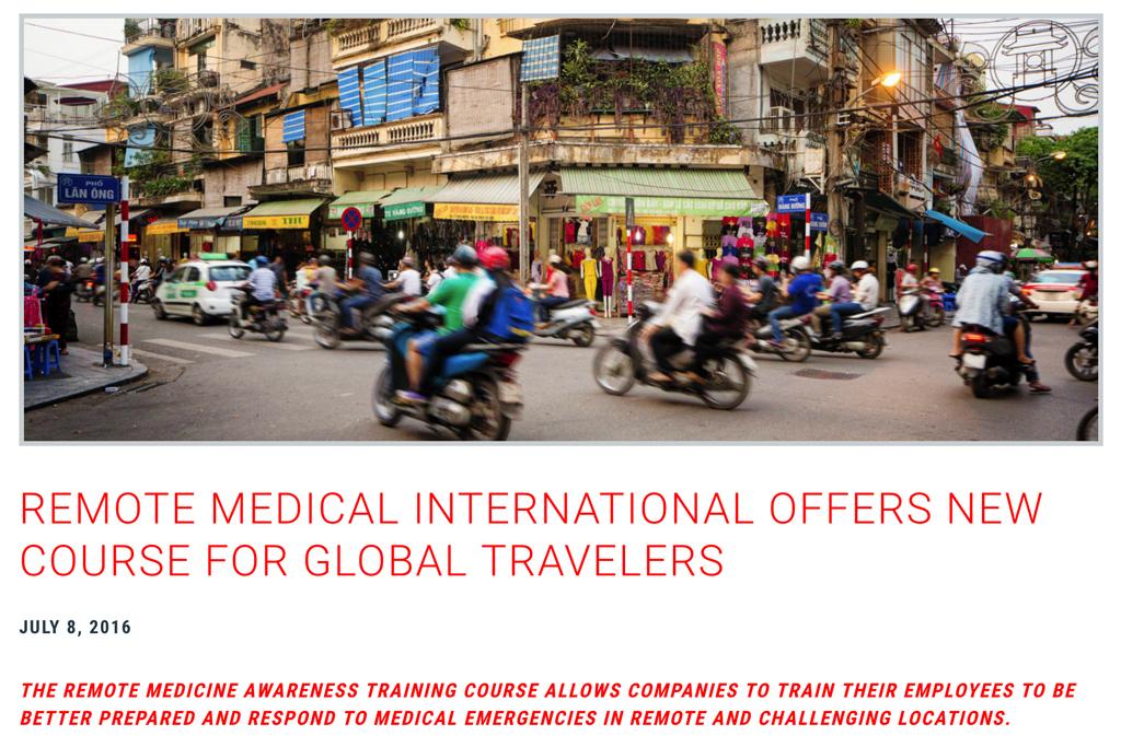 remote medical training course - blog link