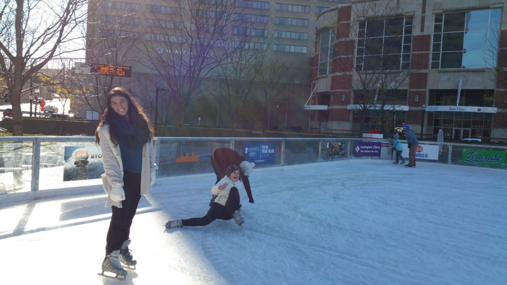 Ice Skating in front of the Lexington Center, Triangle Park, Lexington, Kentucky 2016