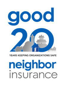 our good neighbor insurance 20th anniversry logo