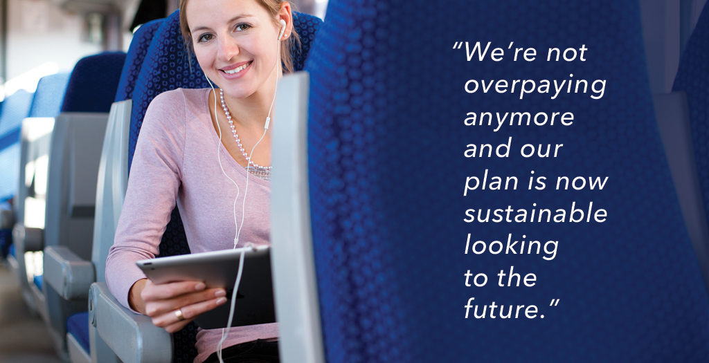 HR Benefits administrator on plane