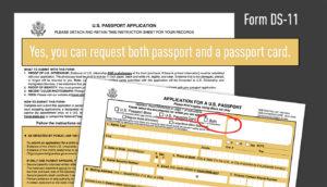 Passport card form application