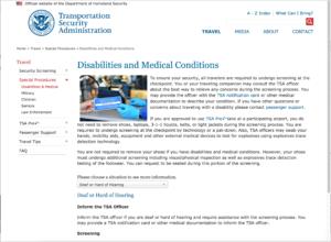 Deaf travel and TSA at Airport