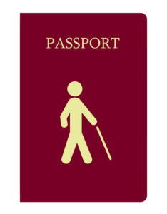 Traveling with blindness Blind travel passport to travel