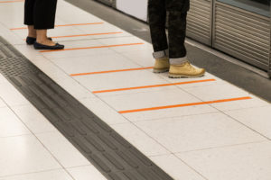 Tactile paving for traveling with blindness