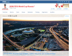 The site of FIFA.com, Home to FIFA World Cup 2018 in Russia