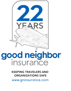 GNI logo vintage airplane 22 years 2019