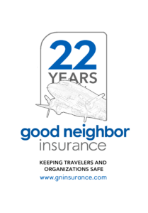 Vintage Good Neighbor Insurance logo celebrating 22 years (2019)